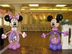 Mickey and Minnie Mouse #balloon#sculpture#disney#birthday