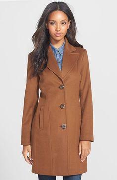 Kristen Blake Wool Blend Walking Coat (Regular & Petite) available at #Nordstrom