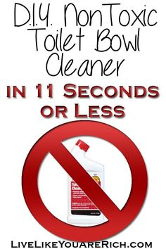 DIY NonToxic Toilet Bowl Cleaner in 11 Seconds or Less  This technique really works, and I love knowing that I'm not flushing chemicals into our sewer system. Toilet Cleaning, Diy Home Cleaning, Homemade Cleaning Supplies, Bathroom Cleaning, Green Cleaning, Cleaning Recipes, House Cleaning Tips, Cleaning Hacks, Toilet Bowl