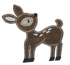 Deer Applique - 3 Sizes! | Camping | Machine Embroidery Designs | SWAKembroidery.com Bella Marie Boutique