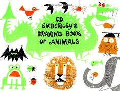 """Emberley thought his """"Drawing Book of Animals"""" would be """"A novelty that might last a year or so."""" It became a lasting hit. (Ed Emberley) Procedural Text, Ed Emberley, Blobfish, Animal Books, Vintage Children's Books, Book Illustration, Illustration Animals, Animal Illustrations, Art Lessons"""