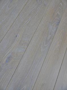 Classic Wide Plank White Oak Flooring with a Super-White Rubio Monocoat Finish
