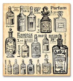 Canvas print PARFUMS by Sticky!!!