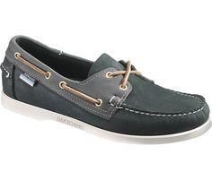 Sebago Spinnaker boat shoes—navy/powder blue.