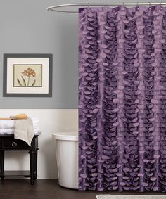 purple and brown shower curtain.  Purple Georgia Shower Curtain by Triangle Home Fashions Love it Beautiful Bathroom Remodel ideas