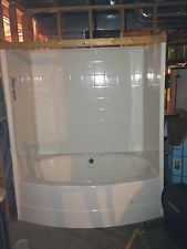 jacuzzi tub shower combo bath tub white oval acrylic tubshower module brand new
