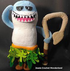 Crochet Maui Shark Head @ Moana~
