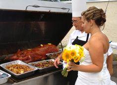 Pig Roast To Celebrate Your Wedding. Professional Pittsburgh Wedding Disc Jockey DJ Rockin Steve - Sara & Mike Turn Lemons Into Lemonade Wedding