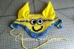 Minion Ear Bonnet for your horse  by CreativeSeaHorse on Etsy, $30.00
