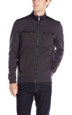 Calvin Klein Men's Full Ponte Jacket, Gunmetal Heather, X-Large ❤ Calvin Klein Men's Collections