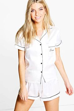 Buy ASOS CURVE Sleeveless Shirt Playsuit at ASOS. Get the latest trends with ASOS now. Bridesmaid Get Ready Outfit, Bridesmaid Pyjamas, Bridesmaid Getting Ready, Bridesmaid Gifts, Bridesmaid Ideas, Blue Bridesmaids, Bridesmaid Proposal, Wedding Bridesmaids, Wedding Dresses