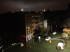 Flooding downtown due to Sandy