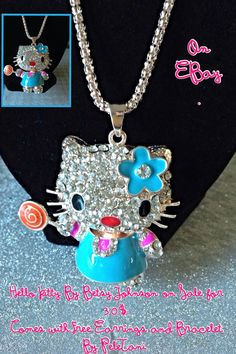 Betsy Johnson's Hello Kitty Necklace on sale on eBay .  Also comes with Free Jewelry PeleTani.