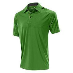 Mizuno Flat Knit Laser Polo Golf Shirt - Green (X-Large)
