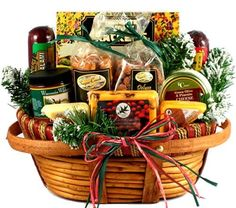 Gift Baskets - Pin it :-) Follow us, CLICK IMAGE TWICE for Pricing and Info . SEE A LARGER SELECTION of gift baskets at http://azgiftideas.com/product-category/gift-baskets/ - gift ideas , gift set -  Gift Basket Village Home For The Holidays Christmas Gift Basket