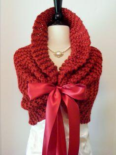 Wedding Shawl / Bridal Bolero / Bridal Shawl / by ElegantKnitting