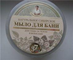 Натуральное сибирское мыло для бани «Черное мыло Агафьи»