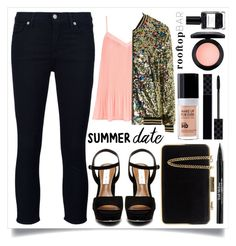 """""""Summer Date Night"""" by alaria ❤ liked on Polyvore featuring MAC Cosmetics, New Look, MICHAEL Michael Kors, Gucci, Steve Madden, Nailberry, Trish McEvoy, MAKE UP FOR EVER, Topshop and 7 For All Mankind"""
