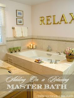 Master bath renovation Ideas for adding on a spa-like bathroom for the master suite Bathroom Red, Spa Like Bathroom, Relaxing Bathroom, Bathroom Ideas, Small Bathrooms, Shower Ideas, Master Bathrooms, Master Bathtub Ideas, Concrete Bathroom
