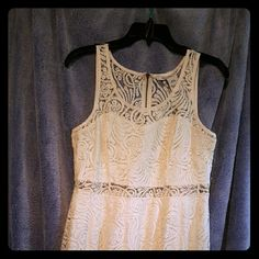 Cute LACE dress Lace dress with a thin see through space under the bust and the neck line. Dresses Mini
