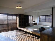 小上がり Modern Japanese Interior, Japanese Modern House, Japanese Living Rooms, Office Interior Design, Interior And Exterior, Interior Decorating, Residential Architecture, Interior Architecture, Tatami Room