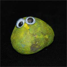 painting stones & googley eyes!