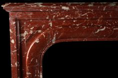 Louis XIV Fireplace in Cherry Red Griotte Marble, French 19th ...
