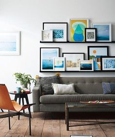 Look We Love: Overstuffed Picture Ledges | Apartment Therapy