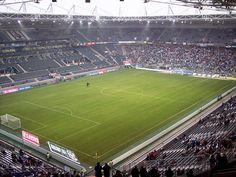 Interior Borussia Park, Mönchengladbach, Alemania. Capacidad 54.057 espectadores, Equipo local Borussia Mönchengladbach.