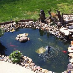 Formal Front Yard Small Pond   Google Search