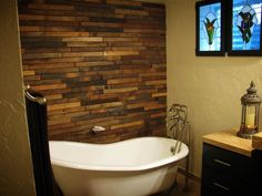 Wood Mosaic/Planks Reclaimed (Exclusive): Timberline 3x24 Reclaimed Wood Plank (Wall Only)
