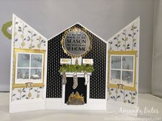The Craft Spa - Stampin' Up! UK independent demonstrator : Winter Wonderland Decorated House Scene Card Tutorial
