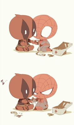Read Spideypool from the story Images yaoi Marvel by love-candy- (The magic of life) with reads. Marvel Art, Marvel Dc Comics, Marvel Heroes, Marvel Avengers, Deadpool X Spiderman, Peter Spiderman, Spideypool, Superfamily, Iron Man Capitan America