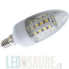 Ampoule LED E14 35W blanc neutre 36 SMD flamme