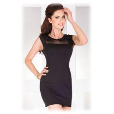 Dámské šaty s límečkem černé