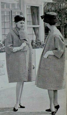 1959 coats Hubert de Givenchy and Balenciaga