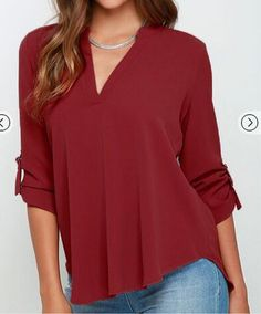V-neck Chiffon Wrinkle Loose Plus Size Blouses