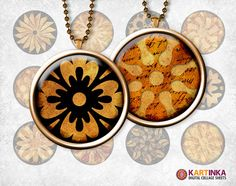 BLACK GOLD WOODEN 1 inch Circles for Pendants  by KARTINKAshop, $3.50
