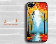 iphone 4s protector verizon  iphone 4s case iphone 4 case iphone 4 cover painting  tree and street unique Iphone case design. $13.99, via Etsy.