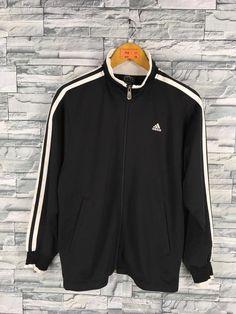 9a7a2285fc23 ADIDAS Jacket Windbreaker Mens Small Vintage 90 s Adidas Equipment Three  Stripes Track Top Sportswea
