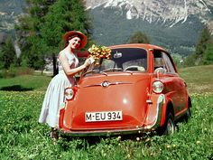 BMW Isetta - you get in by lifting the hood of the car!