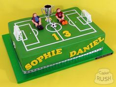 Custom cakes made in Cheshunt Football Pitch Cake, Football Cakes, Soccer Ball Cake, Football Birthday Cake, Sports Themed Cakes, Harry Birthday, Cake Decorating Techniques, Novelty Cakes, Diy Cake