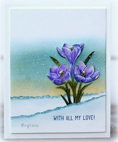 The new stamp set from Technique Tuesday´s stamp club Greenhouse Society  is released! A beautiful crocus this month!            Thanks!   ...