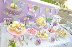 Vintage pastel baby shower ideas