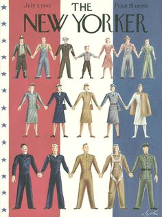 The New Yorker - Saturday, July 3, 1943 - Issue # 959 - Vol. 19 - N° 20 - Cover by : Constantin Alajalov
