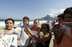 Sneijder  in Ipanema Beach