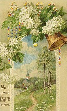 With loving Easter greeting card