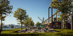 DESIGNBOOM: field operations plans waterfront park for domino sugar site http://www.davincilifestyle.com/designboom-field-operations-plans-waterfront-park-for-domino-sugar-site/       apr 21, 2017  james corner field operations plans waterfront park for brooklyn's domino sugar site      james corner field operations has revealed detailed plans for a quarter-mile park in new york that will create a new waterfront esplanade as part of williamsburg's redeveloped domi