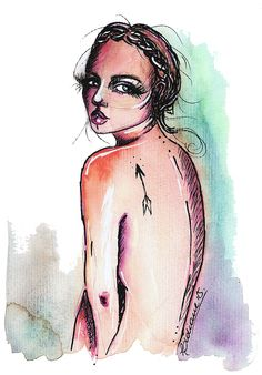 By Lidiane Dutra #illustration #watercolor #art #painting