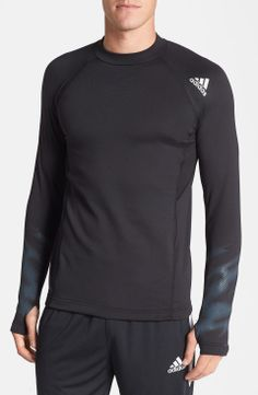 Love the Adidas adidas climawarm+TM Mock Neck T-Shirt | $65 | gifts for the sporty guy | mens training 5-shirt | athletic | sports | menswear | mens style | mens fashion | wantering http://www.wantering.com/mens-clothing-item/adidas-climawarmtm-mock-neck-t-shirt/affNj/
